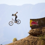 rider: Graham Agassiz event: Red Bull Rampage  location: Virgin, Utah