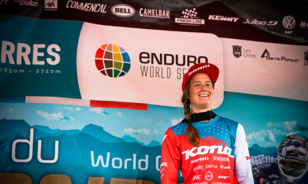 Miranda Miller Finishes Third at Les Orres EWS