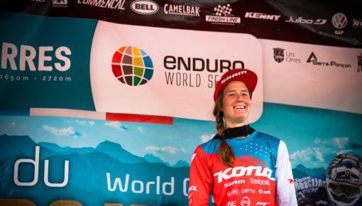 Miranda Miller Finishes Third at Les Orres EWS