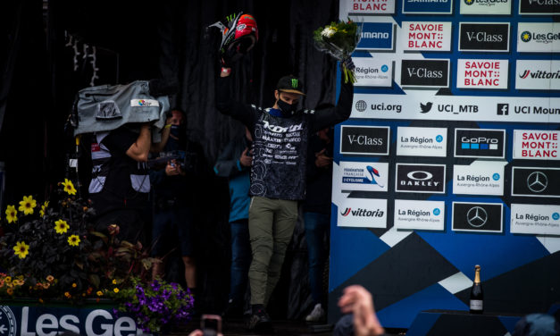 Connor Fearon Takes 4TH in a Rowdy Les Gets UCI DH World Cup Race